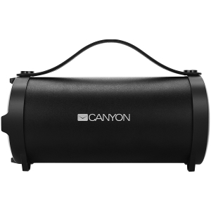 Canyon Bluetooth Speaker, BT V4.2, Jieli AC6905A, TF card support, 3.5mm AUX, micro-USB port, 1500mAh polymer battery, Black, cable length 0.6m, 242*118*118mm, 0.834kg [0]