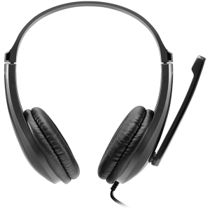 CANYON HSC-1 basic PC headset with microphone, combined 3.5mm plug, leather pads, Flat cable length 2.0m, 160*60*160mm, 0.13kg, Black1