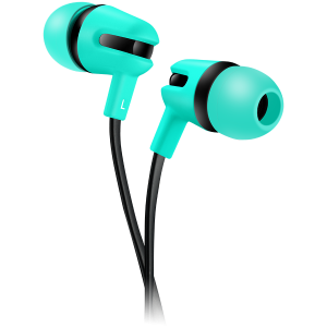 CANYON Stereo earphone with microphone, 1.2m flat cable, Green, 22*12*12mm, 0.013kg0