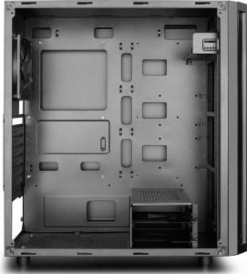 """CARCASA DEEPCOOL ATX  Mid-Tower, 1* 120mm fan (inclus), front audio & 1x USB 3.0, 2x USB 2.0, black """"D-SHIELD V2""""6"""