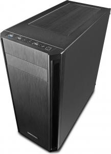 """CARCASA DEEPCOOL ATX  Mid-Tower, 1* 120mm fan (inclus), front audio & 1x USB 3.0, 2x USB 2.0, black """"D-SHIELD V2""""4"""