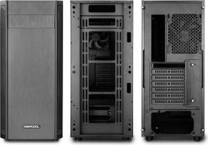 """CARCASA DEEPCOOL ATX  Mid-Tower, 1* 120mm fan (inclus), front audio & 1x USB 3.0, 2x USB 2.0, black """"D-SHIELD V2""""1"""