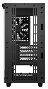 "CARCASA DeepCool Middle-Tower ATX, 1* 120mm fan (inclus), tempered glass, panouri laterale magnetice, tavan amovibil, front audio & 2x USB 3.0, black ""MACUBE 110""8"