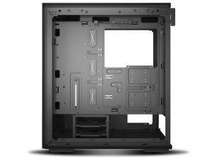 """CARCASA DeepCool Middle-Tower ATX, 1* 120mm fan (inclus), tempered glass, panouri laterale magnetice, tavan amovibil, front audio & 2x USB 3.0, black """"MACUBE 310P BK""""8"""