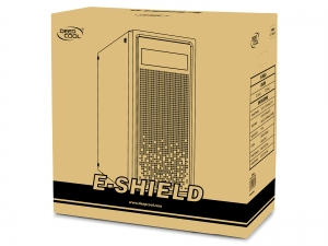 "CARCASA DeepCool Middle-Tower  E-ATX, 1* 120mm fan (inclus), tempered glass, front audio & 1x USB 3.0,  2x USB 2.0, black ""E-SHIELD"" [7]"