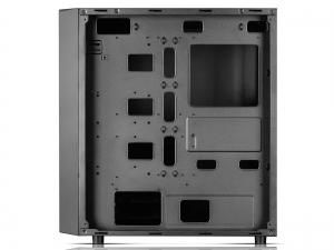 "CARCASA DeepCool Middle-Tower  E-ATX, 1* 120mm fan (inclus), tempered glass, front audio & 1x USB 3.0,  2x USB 2.0, black ""E-SHIELD"" [4]"