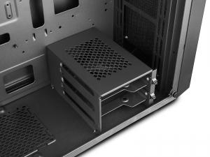 "CARCASA DeepCool Middle-Tower  E-ATX, 1* 120mm fan (inclus), tempered glass, front audio & 1x USB 3.0,  2x USB 2.0, black ""E-SHIELD"" [5]"