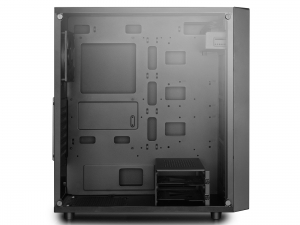 "CARCASA DeepCool Middle-Tower  E-ATX, 1* 120mm fan (inclus), tempered glass, front audio & 1x USB 3.0,  2x USB 2.0, black ""E-SHIELD"" [2]"