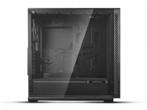 "CARCASA DeepCool Middle-Tower E-ATX, 1x 120mm fans, tempered glass, front audio & 2x USB 3.0, 1x USB 2.0, black ""MATREXX 70""2"