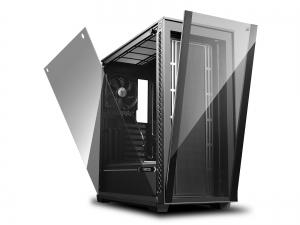 "CARCASA DeepCool Middle-Tower E-ATX, 1x 120mm fans, tempered glass, front audio & 2x USB 3.0, 1x USB 2.0, black ""MATREXX 70""1"