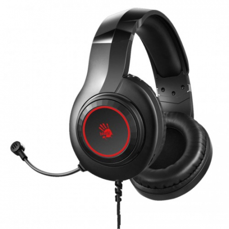 "CASTI A4TECH Bloody gaming, cu fir, tip standard, utilizare multimedia (PC and more), microfon pe casca, iluminare, negru, jack 3.5"", ""G220"" (include TV 0.75 lei) [1]"