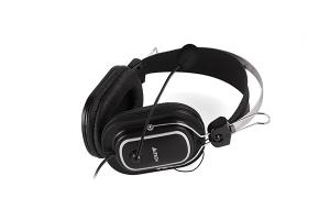 "CASTI A4TECH cu microfon, lungime fir 2m, control volum pe fir, conector USB, Black ""HU-50"" (include timbru verde 0.5 lei) [3]"