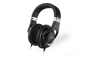 """CASTI GENIUS  smartphone (over ear) cu microfon, """"HS-610"""", frecventa 20Hz - 20kHz, cu 1x jack de 3.5mm, control pe fir si design ajustabil, culoare: negru """"31710010400"""" (include timbru verde 0.5 lei) [0]"""