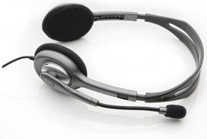 """Casti Logitech  """"H111"""" Stereo Headset with Microphone """"981-000593""""  (include timbru verde 0.01 lei) [2]"""
