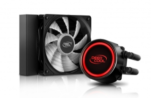 """COOLER DeepCool CPU universal. cu LICHID, soc LGA2011(3)/1366/115x & FMx/AM4/AM3x/AM2x, AL+Cu+lichid, 1x 120 red LED fan, 150W, """"GAMMAXX L120T RED""""1"""