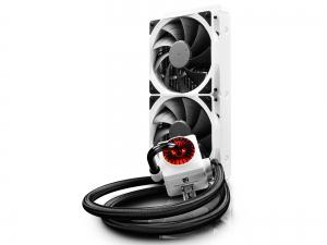 "COOLER DeepCool CPU universal. cu LICHID. soc LGA20xx/1366/115x & AMx/FMx, AL+Cu+lichid, 2x  TF 120 fans & RGB LED strip, 150W, ""CAPTAIN 240 EX RGB WHITE""1"