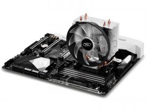 """COOLER DeepCool CPU universal, soc LGA115x/775 & FMx/AMx, Al+Cu, 3x heatpipe, red LED fan 120x25mm, 130W \'\'GAMMAXX 300R""""5"""