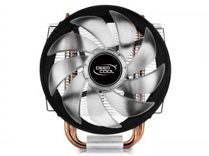 """COOLER DeepCool CPU universal, soc LGA115x/775 & FMx/AMx, Al+Cu, 3x heatpipe, red LED fan 120x25mm, 130W \'\'GAMMAXX 300R""""3"""