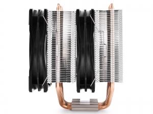 """COOLER DeepCool CPU universal, soc. LGA20xx/1366/115x/775 & FMx/AMx, Al+Cu, 6x heatpipe, 2x RGB SYNC fans 120x25mm, 200W """"NEPTWIN RGB""""2"""