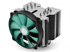 "COOLER DeepCool CPU universal, soc. LGA20xx/1366/115x/775 & FMx/AMx, Al+Cu, 6x heatpipe, fan 140x26mm, 130W ""LUCIFER V2""0"