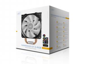 """COOLER DeepCool CPU universal, soc LGA20xx/1366/115x & AM4/AMx/FMx, Al+Cu, 4x heatpipe, 150W, ADD-RGB LED """"GAMMAXX GT A-RGB""""5"""