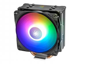 """COOLER DeepCool CPU universal, soc LGA20xx/1366/115x & AM4/AMx/FMx, Al+Cu, 4x heatpipe, 150W, ADD-RGB LED """"GAMMAXX GT A-RGB""""0"""