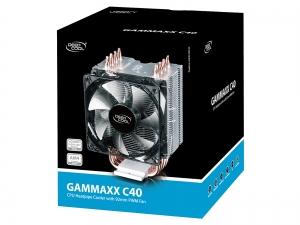 """COOLER DeepCool CPU universal, soc LGA20xx/1366/115x & AMx/FMx, Al+Cu, 4x heatpipe, 130W """"GAMMAXX C40""""6"""