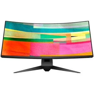 "DELL Alienware 34 Curved Gaming Monitor AW3418DW, NVIDIA G-SYNC, 34"" WQHD 3440 x 1440 IPS 21:9, 4 ms (gray-to-gray), 300 cd/m², 1000:1, 16.7 million colors, 178/178, HDMI, DisplayPort, USB 3.0 hub, Ti0"