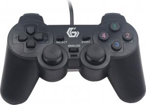 "GAMEPAD x 2, un conector USB, dual vibration, GEMBIRD ""JPD-UDV2-01"" - include timbru verde 0.01 lei [1]"
