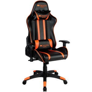 Gaming chair, PU leather, Cold molded foam, Metal Frame,  Butterfly mechanism, 90-150 dgree, 2D armrest, Class 4 gas lift, Nylon 5 Stars Base, 60mm PU caster, black+Orange.2