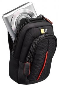 "GEANTA camera foto compacta CASE LOGIC, buzunar frontal, curea detasabila, poliester, black, ""DCB302K""/32010123"