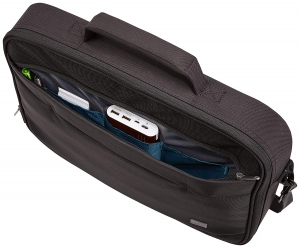 "GEANTA CASE LOGIC notebook 15.6"", poliester, 1 compartiment, buzunar interior tableta, 2 buzunare frontale, black, ""ADVB116 Black""/32039903"
