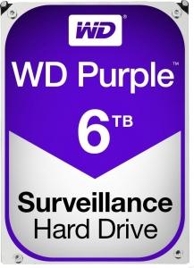 """HDD 6TB PURPLE  64MB S-ATA3 """"6PURZ"""" WD SURVEILLANCE """"WD60PURX""""x0"""