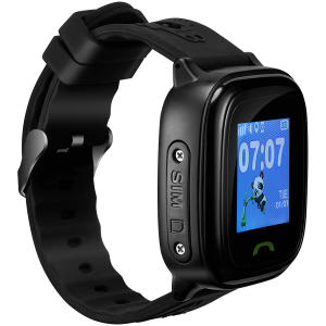Kids smartwatch, 1.22 inch colorful screen,  SOS button, single SIM,32+32MB, GSM(850/900/1800/1900MHz), IP68 waterproof, Wifi, GPS, 420mAh, compatibility with iOS and android, Black, host: 46*40*15MM,2