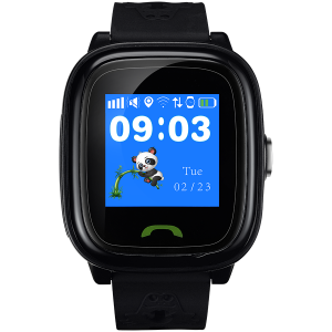 Kids smartwatch, 1.22 inch colorful screen,  SOS button, single SIM,32+32MB, GSM(850/900/1800/1900MHz), IP68 waterproof, Wifi, GPS, 420mAh, compatibility with iOS and android, Black, host: 46*40*15MM,0