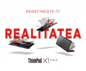 """Laptop 2in1 LENOVO ThinkPad X1 FOLD Gen 1, cu ecran pliabil, Intel Core i5-L16G7 (5C / 5T, 1.4 / 3.0GHz, 4MB), 8GB, 512GB SSD, 13.3"""" QXGA,  Windows 10 Pro 645"""