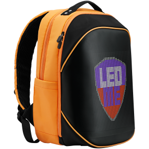 LEDme backpack, animated backpack with LED display, Nylon+TPU material, Dimensions 42*31.5*20cm, LED display 64*64 pixels, orange3