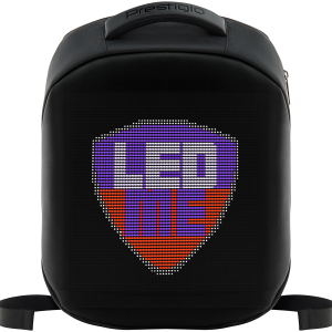 LEDme backpack, animated backpack with LED display, Polyester+TPU material, Dimensions 42*31.5*15cm, LED display 64*64 pixels, black0