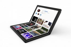 """Laptop 2in1 LENOVO ThinkPad X1 FOLD Gen 1, cu ecran pliabil, Intel Core i5-L16G7 (5C / 5T, 1.4 / 3.0GHz, 4MB), 8GB, 512GB SSD, 13.3"""" QXGA,  Windows 10 Pro 640"""