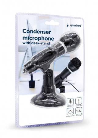 "MICROFON GEMBIRD, suport tip ""picior"", conector Jack 3.5 mm, negru, ""MIC-D-04"" (include TV 0.02 lei)x2"
