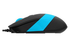 """MOUSE A4TECH NB sau PC, cu fir, USB, optic, 1600 dpi, butoane/scroll 4/1, negru / albastru, """"FM10 Blue"""" (include TV 0.15 lei)2"""