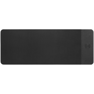 Mouse Mat with wireless charger, Input 5V/9V-2A, Output 5W/7.5W/10W, 800*300*8mm, Micro USB cable length 1m, Black, 674.7g [0]