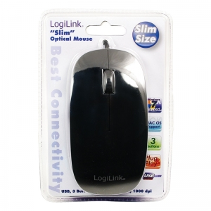 """Mouse  Optical Scroll Mouse, BLACK """"ID0063""""1"""