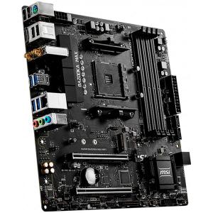 MSI Main Board Desktop B450 (SAM4, 4xDDR4, 2xPCI-Ex16, 3xPCI-Ex1, USB3.2, 4xSATA III, 2xM.2, Raid, DP, HDMI, GLAN) mATX Retail Intel Single Band Wireless-AC 3168 chip [1]
