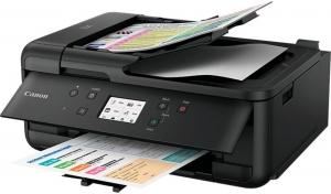 Multifunctional inkjet color Canon Pixma TR4550, dimensiune A4 (Printare, Copiere, Scanare, Fax, Cloud link), duplex, viteza 8.8ppm alb-negru, 4.4ppm color, rezolutie 4800x1200 dpi, alimentare hartie 0