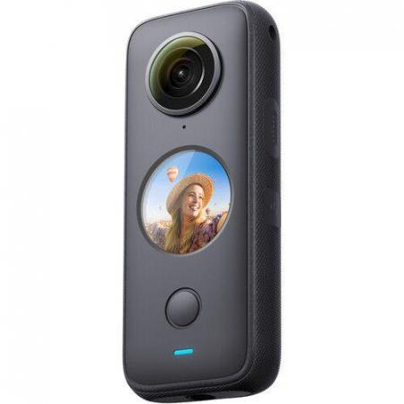 Camera video sport Insta360 ONE X2, 5.7K, 360°, Waterproof(pana la 10 metri), 4 microfoane, Mod Steadycam, InstaPano, Slow Motion, capacitate acumulator 1630 mAh, culoare neagra [0]