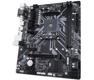 Placa de baza GIGABYTE skt. AM4, B450M S2H, AMD B450, 2x DDR4 3200 (O.C.) MHz, 1x DVI-D/ HDMI, 1x PCI E x16 slot at x16, 1x PCI E x16 at x4, 1x PCI E x1, 4x SATA, 2x USB 3.1, 8x USB 2.0/1.1, Realtek G0