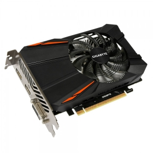 Placa video GIGABYTE NVIDIA GeForce GTX 1050 Ti D5 4G, N105TD5-4GD, PCI- E 3.0 x 16, 4 GB GDDR5, 128 bit, Boost: 1430MHz/ Base: 1316MHz in OC Mode, Boost: 1392MHz/ Base: 1290MHz in Gaming, Memory Cloc1