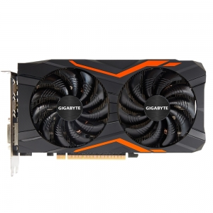 Placa video GIGABYTE NVIDIA GeForce GTX 1050 Ti G1 Gaming 4G, N105TG1 GAMING- 4GD, PCI-E 3.0 x 16, 4GB GDDR5, 128 bit, DVI-D *1, HDMI-2.0b*3, Display Port-1.4 *1, Boost: 1506 MHz/ Base: 1392 MHz in OC0