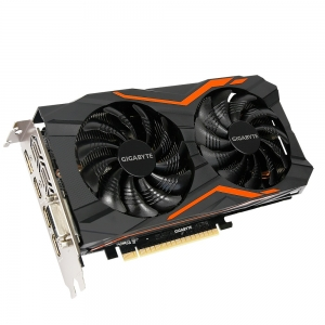 Placa video GIGABYTE NVIDIA GeForce GTX 1050 Ti G1 Gaming 4G, N105TG1 GAMING- 4GD, PCI-E 3.0 x 16, 4GB GDDR5, 128 bit, DVI-D *1, HDMI-2.0b*3, Display Port-1.4 *1, Boost: 1506 MHz/ Base: 1392 MHz in OC1